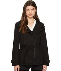 Kenneth Cole New York Faux Suede Moto Trench