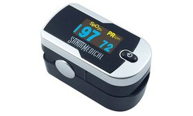 Santamedical Finger Pulse Oximeter OLED Silver w/