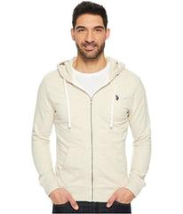 U.S. POLO ASSN. Slim Fit Solid French Terry Hooded