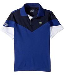 Lacoste Short Sleeve Color Block Polo (Little Kids
