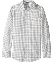 Lacoste Long Sleeve Poplin Check Shirt (Little Kid