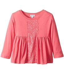 Splendid Littles Long Sleeve Top with Lace Insert