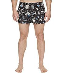 Dolce & Gabbana Jazz Print Mid Cut Swim Shorts