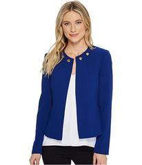 Tahari by ASL Crop Jacket with Grommet Detail