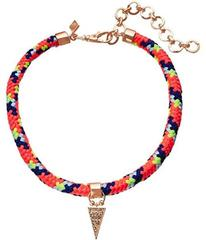 Rebecca Minkoff Climbing Rope Choker Necklace with