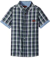 7 For All Mankind Kids Button Down Short Sleeve Wo