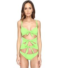 Moschino Solid Tie Front Maillot