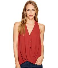 Stetson 1073 Crepe Sleeveless Twist Front Top
