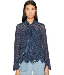 See by Chloe Georgette Blouse with Neck Tie