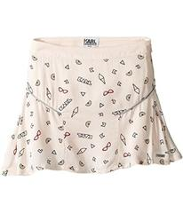 Karl Lagerfeld Viscose Skirt w/ All Over Ice Cream
