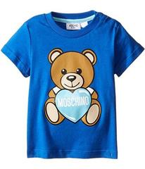 Moschino Teddy Bear and Heart Graphic Short Sleeve