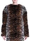 Stella McCartney Tiger Print Faux Fur Top