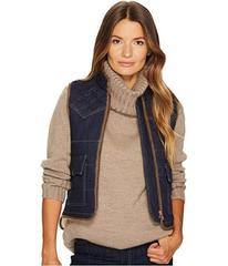 See by Chloe Quilted Denim Vest