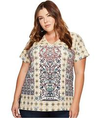 Lucky Brand Plus Size Morrocan Tile Tee