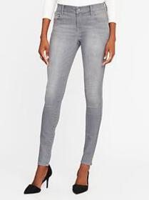 Mid-Rise Built-In-Sculpt Gray Rockstar Jeans for W