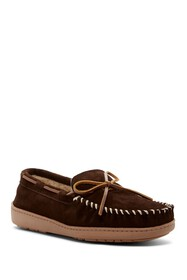 Minnetonka Tory Trad Trapper Faux Fur Lined Moccas