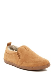 Minnetonka Tucker Twin Gore Faux Fur Lined Slipper
