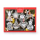 Lenox Sparkle & Scroll Ornaments - Set of 8