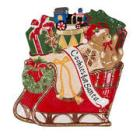 Fitz and Floyd® Nancy Reagan Christmas Red Sleigh