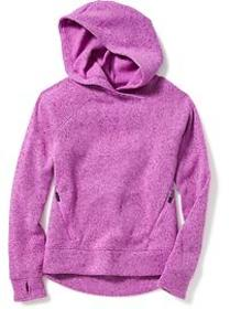 Go-Warm Sweater-Knit Fleece Hoodie for Girls