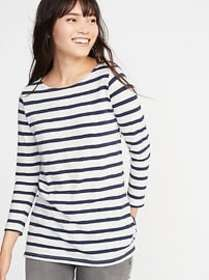 Relaxed Mariner-Stripe Tee for Women