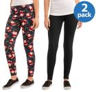Faded Glory Women's 2 Pack Printed Legging Hol