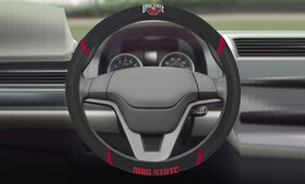 "Fanmats NCAA 15"" Universal Faux Suede Steering Whe"
