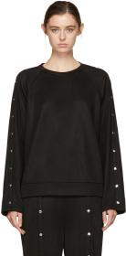 T by Alexander Wang Black Snaps Sweatshirt
