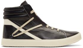 Rick Owens Black Trasher High-Top Sneakers