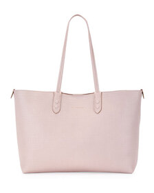 Alexander McQueen Lino Small Embossed Leather Tote