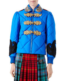 Gucci Caspian Nylon Quilted Bomber Jacket, Bright