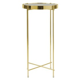 Ritz Tall Side Table - Gold - urb SPACE