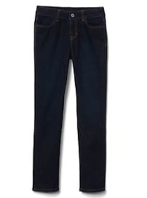 Kids Mid Rise Straight Jeans in Stretch