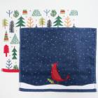 Holiday Bath Towels and Rugs Collection Blue