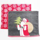 Holiday Bath Towels and Rugs Collection Gray