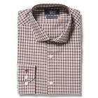 BERRY CHECK DRESS SHIRT