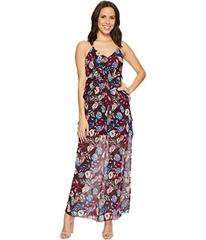 ROMEO & JULIET COUTURE Floral Chiffon Ruffled Maxi