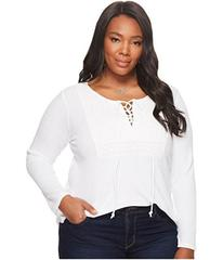Lucky Brand Plus Size Lace-Up Bib Thermal