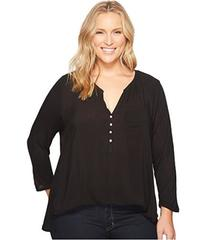 Lucky Brand Plus Size Woven Mixed Top