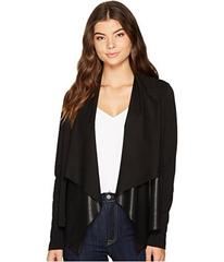 Splendid Faux Leather Drape Jacket