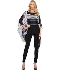 Vince Camuto Linear Graphic Panel Poncho