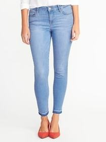 Mid-Rise Built-In Sculpt Rockstar Ankle Jeans for