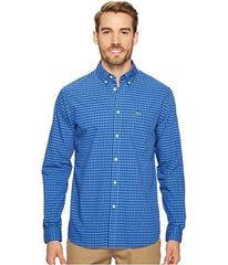Lacoste Long Sleeve Button Down with Pocket Gingha