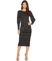 Nicole Miller Elizabetta Dotted Stripes Long Sleev