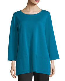 Caroline Rose 3/4-Sleeve Front-Pocket Tunic, Plus