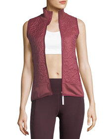 adidas by Stella McCartney Quilted Zip-Front Runni