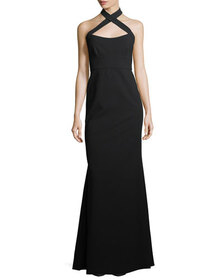 Jill Jill Stuart Sleeveless Halter Trumpet Evening