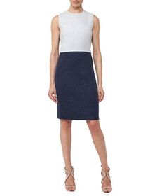 Akris Sleeveless Reversible Bicolor Wool Dress