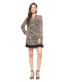 Juicy Couture Chateau Leopard Lace Trim Dress