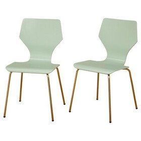 Enna Dining Chairs (Set of 2) - Mint - Angelo:Home